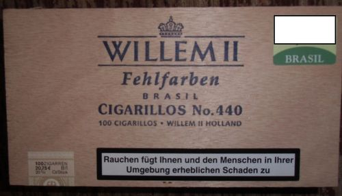100 Cigarillos Fehlfarben Brasil Willem II No. 440 / Willem II Holland
